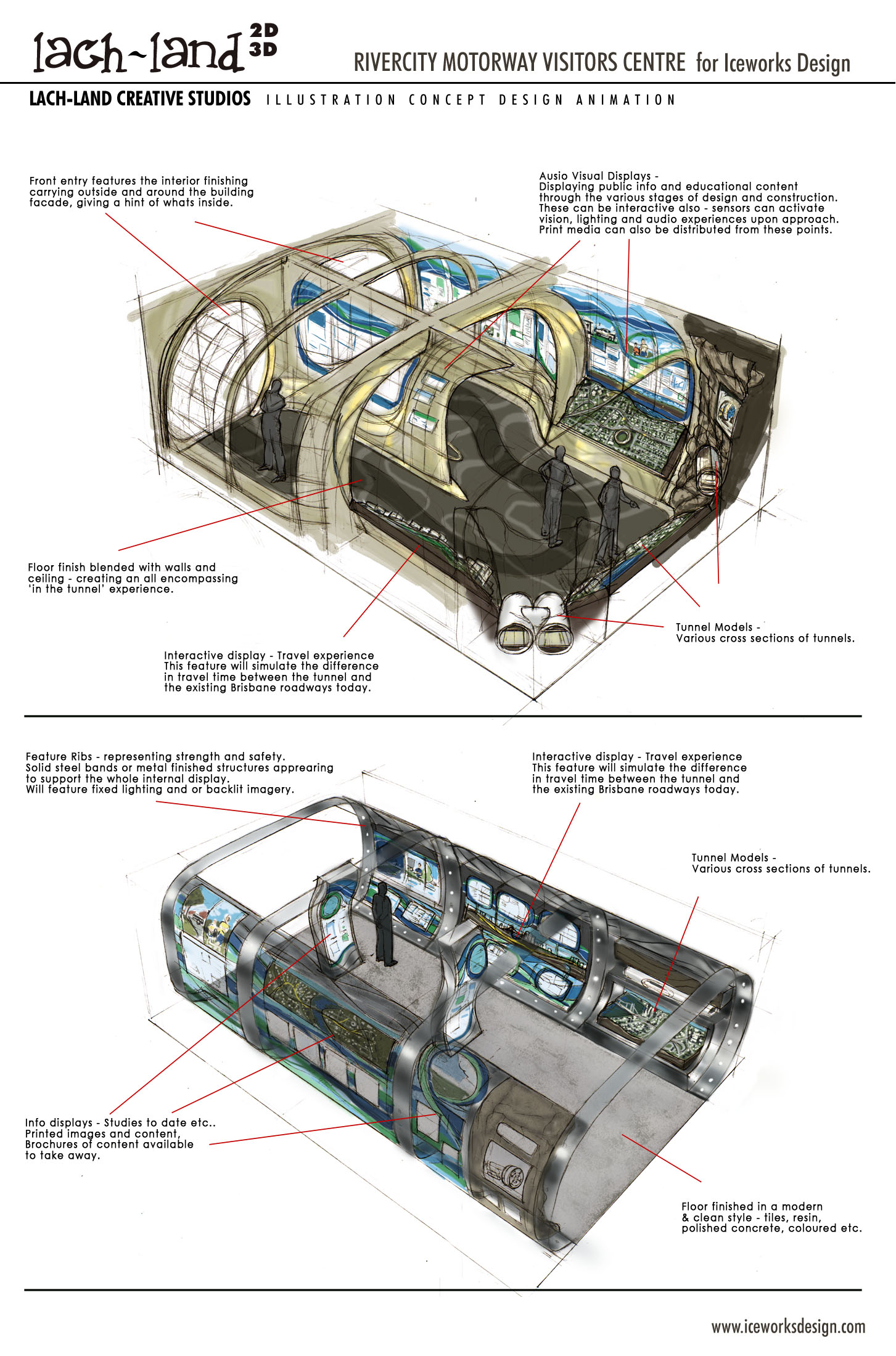 Lachlan Creaghs Commercial Illustration Work Tunnel Lighting Diagram Iceworks Motorway